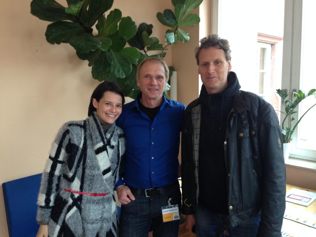Heidi und ich haben am Sonntagmorgen Günter Bergmanns Vortrag besucht.