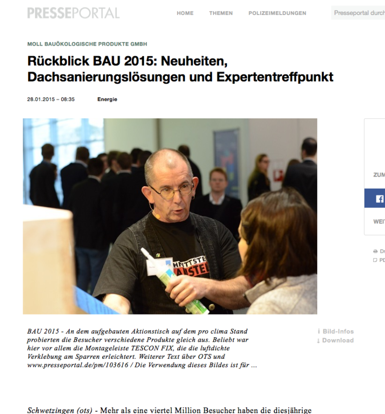 Rückblick auf die BAU 2015 in München