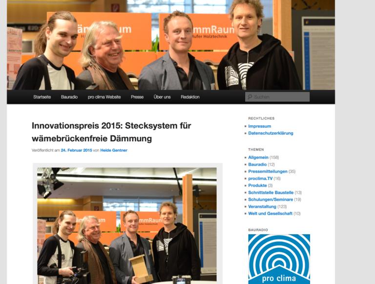 Airtight-Junkie Holger Merkel als TV Reporter: Interview zu Innovationspreis