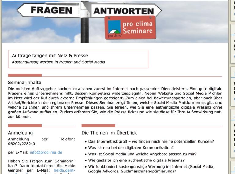 Social Media & Öffentlichkeitsarbeitseminar am 21. Juli 2015 in Schwetzingen