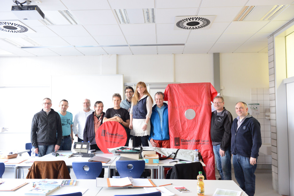 Die Teilnehmer des Frühjahrkurses: Energieberater, Architekten und Gutachter.