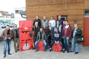 Die Teilnehmer der GIH-Ausbildung zum Blower-Door-Spezialisten in Schwetzingen.