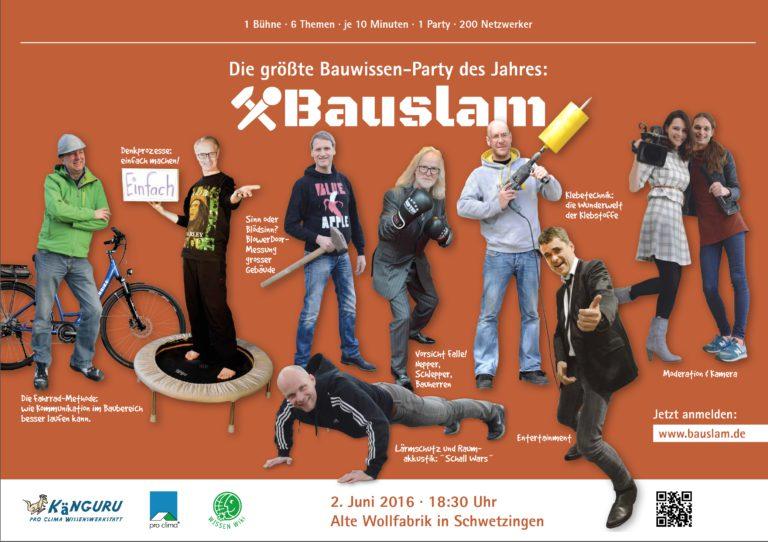 Bau-Afterworkparty + 6 Vorträge in jeweils 10 Minuten am 2. Juni in Schwetzingen