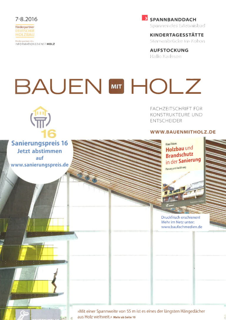 Pressespiegel: Fachartikel über Dachsanierung  in Bauen mit Holz