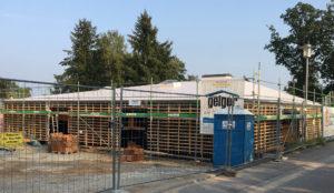 Kindertagesstätte in Süddeutschland, die in Holzbauweise errichtet wurde