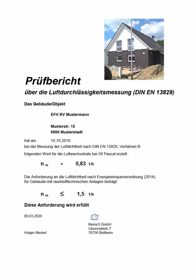 Das GEG kommt: Blower-Door-Messungen jetzt und in Zukunft (Teil 3): Der Prüfbericht nach Norm DIN EN 13829