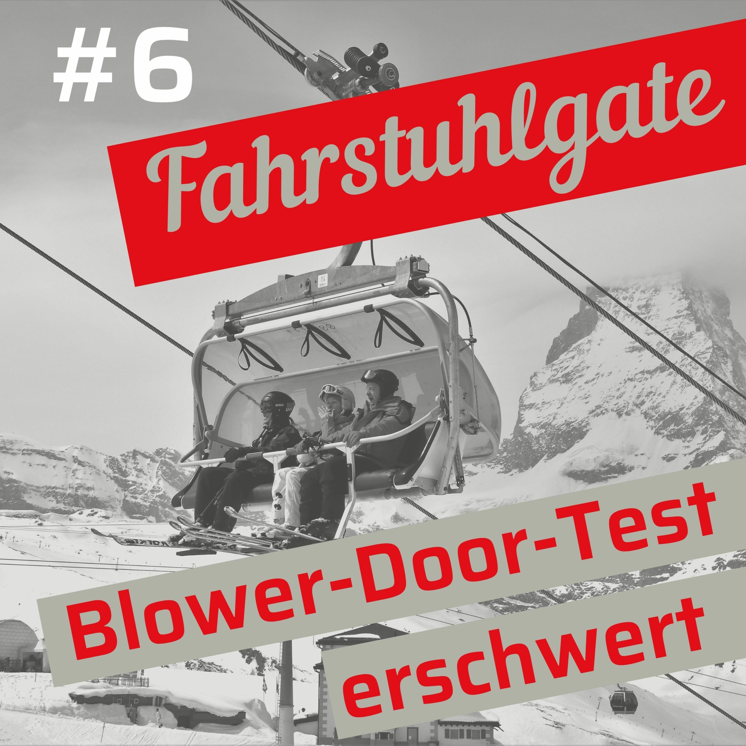 #6 Fahrstuhlgate: Blower-Door-Messung erschwert - Achtung das GEG kommt Blower-Door-Test und Gebäudepräparation: das GEG verbietet bestimmte Abklebungen