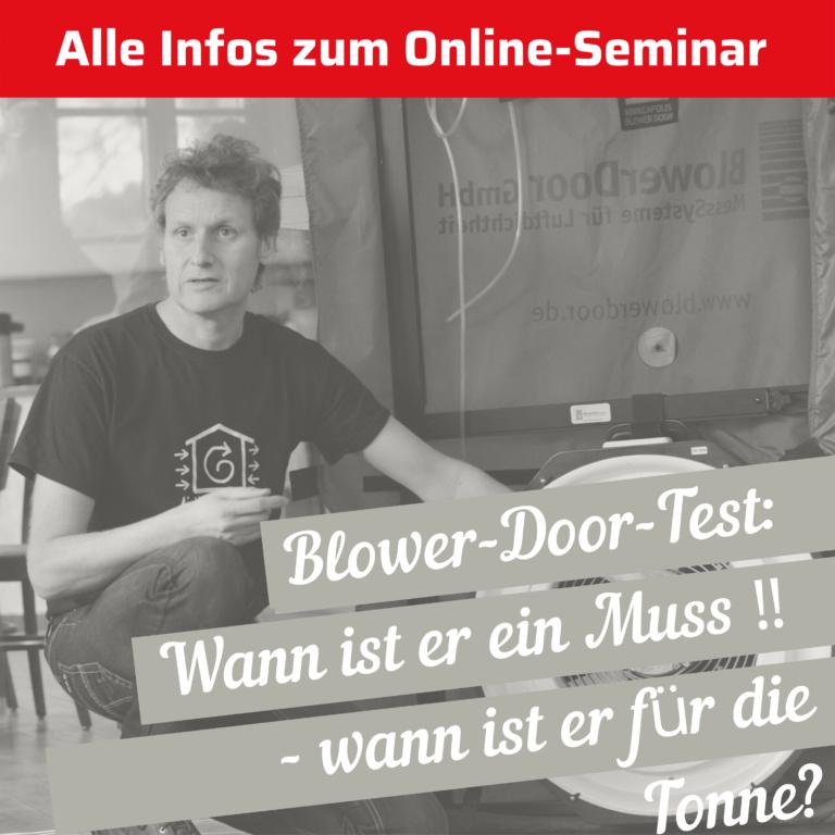 Wissenssammlung zu Blower-Door-Seminar