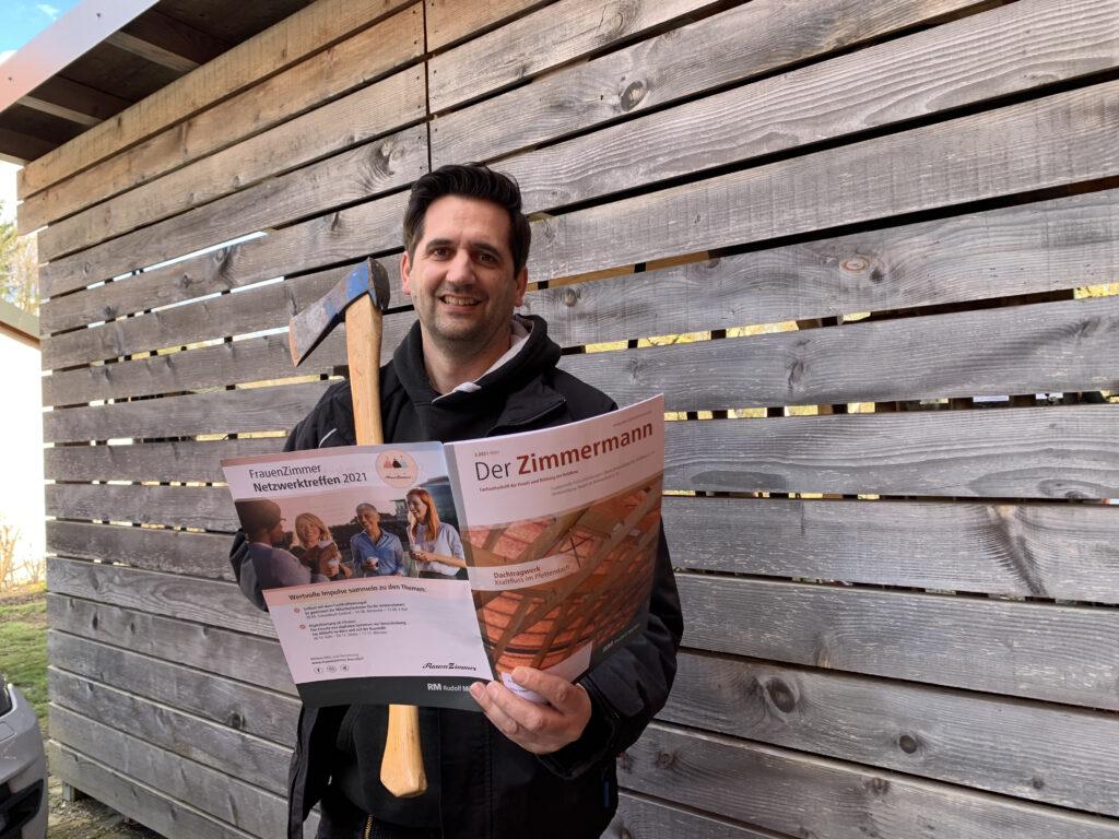 Zimmermeister Jochen Götz von bionic3 in der Fachzeitschrift der Zimmermann
